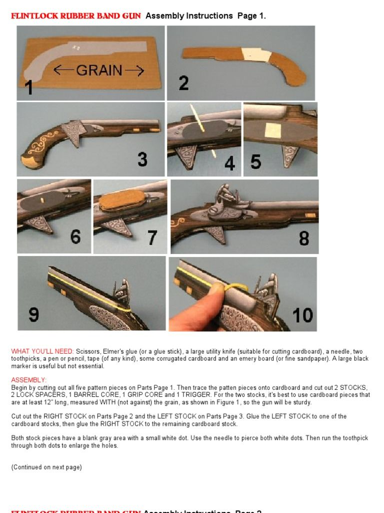 instruction to make the rubberband pistol   LARP/Fantasy Combat