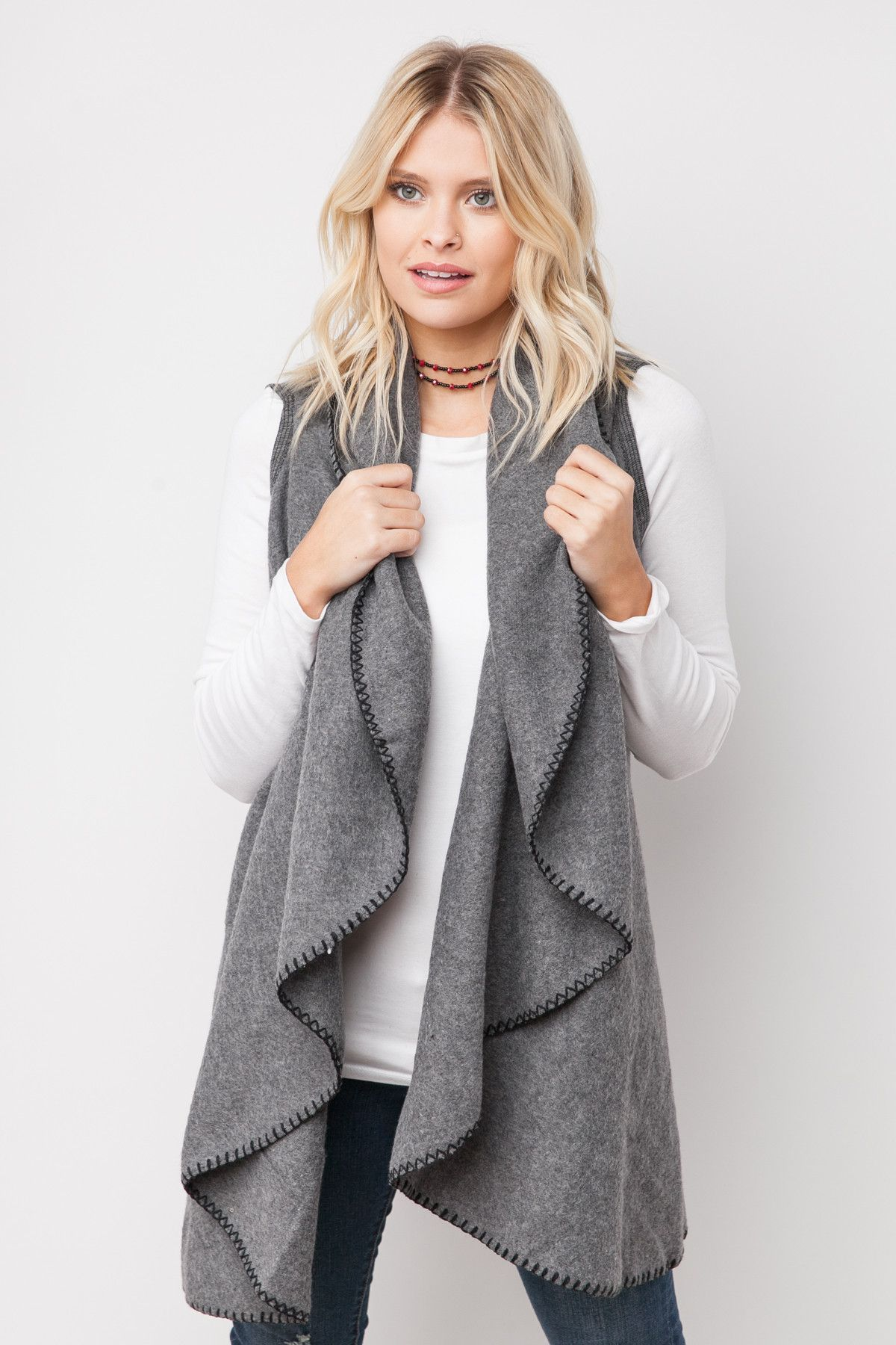 Fleece on earth vest in grey products pinterest products