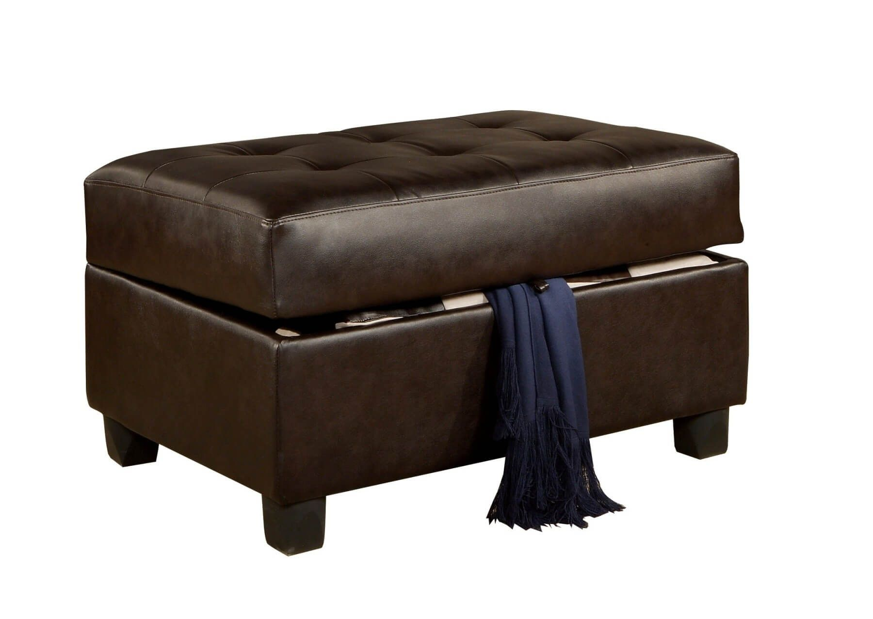 36 Top Brown Leather Ottoman Coffee Tables Leather Living Room