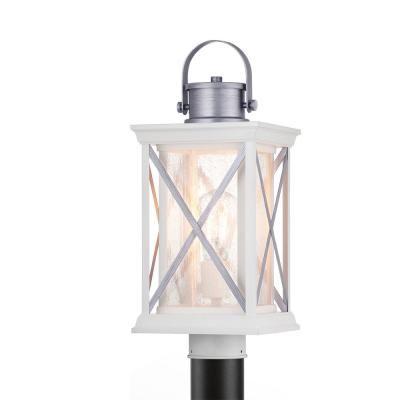 Progress Lighting Pendleton 1 Light Outdoor Satin White Post Light