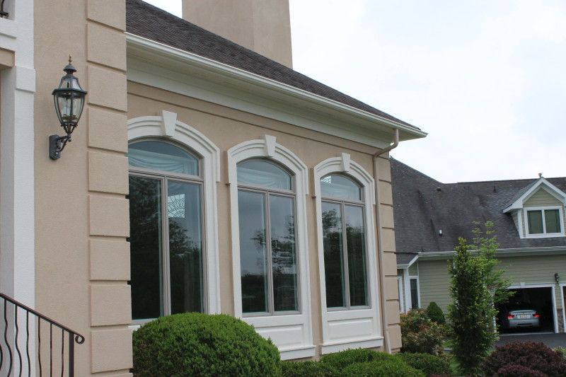 Stucco window molding google search stucco trim - Cost to paint exterior trim on house ...
