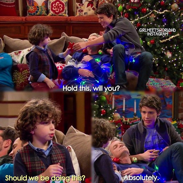 "#GirlMeetsWorld 1x16 ""Girl Meets Home for the Holidays"" - Auggie and his uncle Joshua"