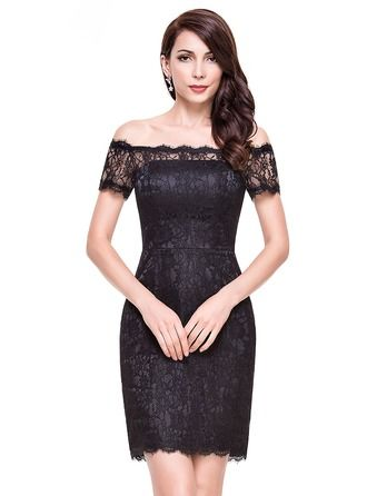 38d78addb5 Sheath Column Off-the-Shoulder Short Mini Lace Cocktail Dress (016065517)