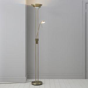 Mericourt Brushed Gold Effect Floor Light Floor Lights Floor