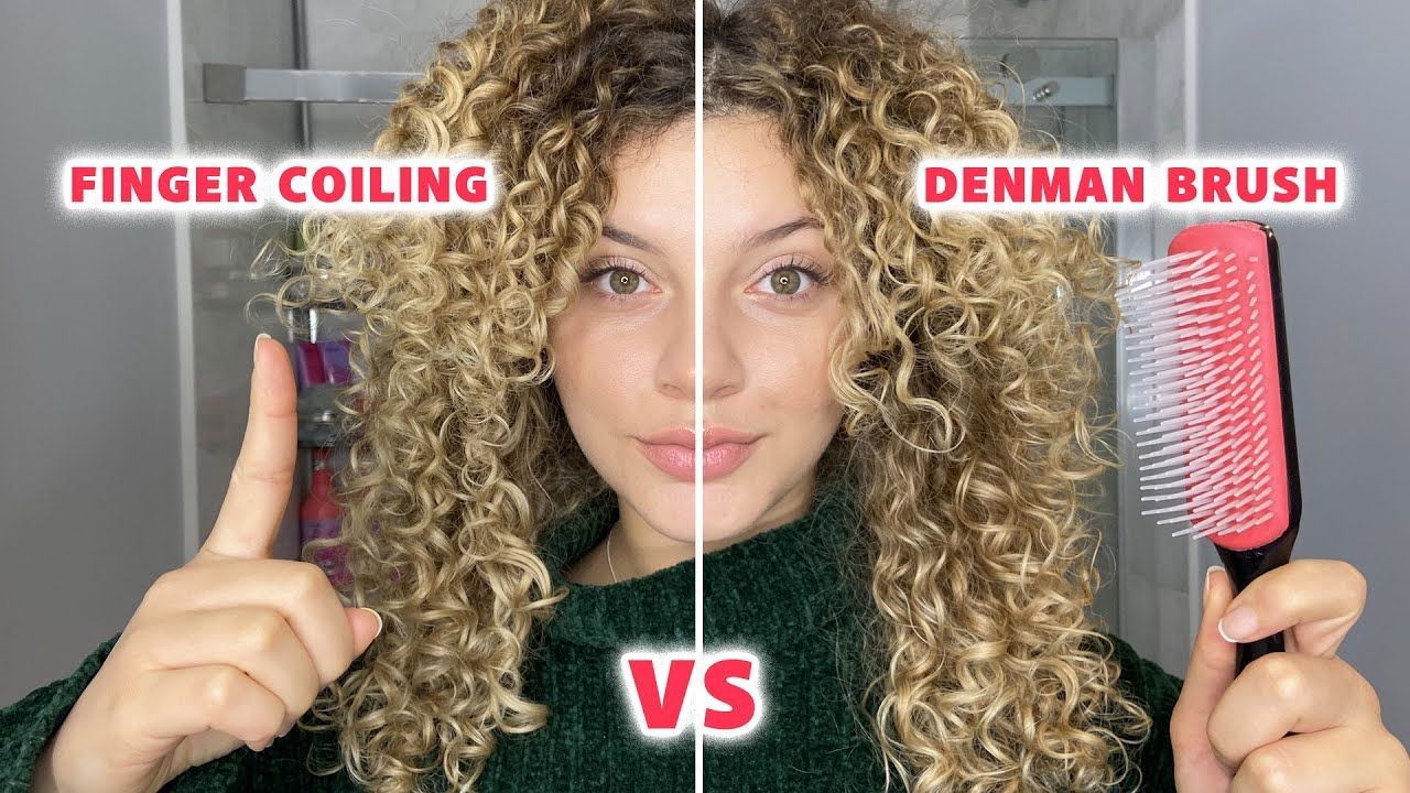 Finger Coiling Vs The Denman Brush What Is Best For Curl Definition And Longevity Youtube Denman Brush Finger Coils Curl Definition