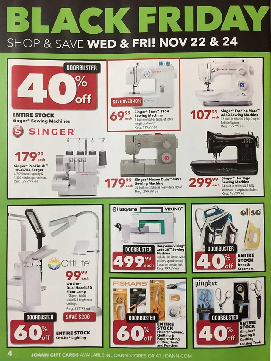 Joann Black Friday 2017 Ads And Deals Get The Best Joann Black