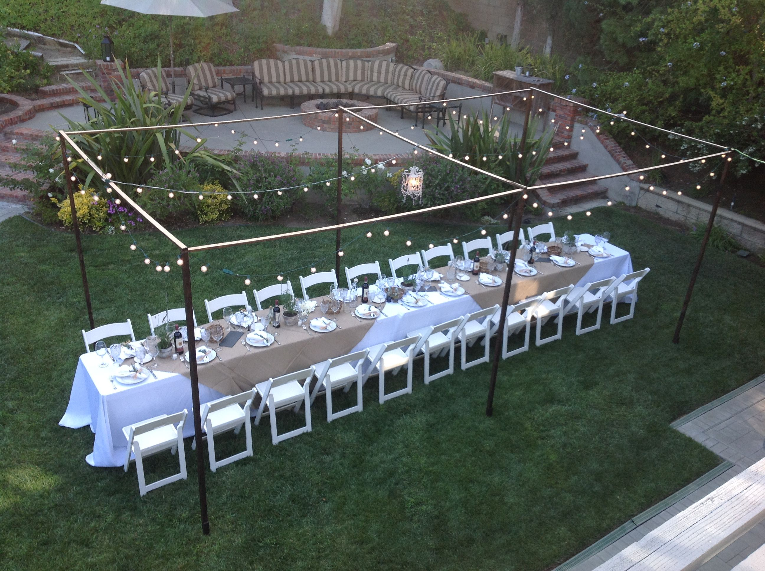 Outdoor Tuscan Dinner Party And
