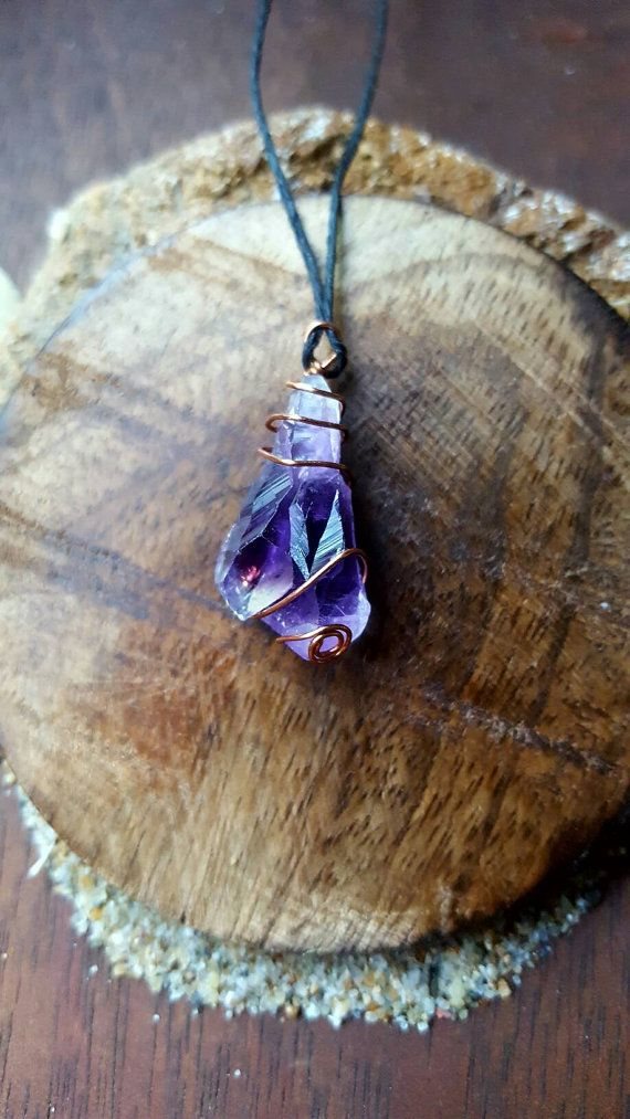 Check out this item in my Etsy shop https://www.etsy.com/listing/471825741/double-point-amethyst-crystal-necklace
