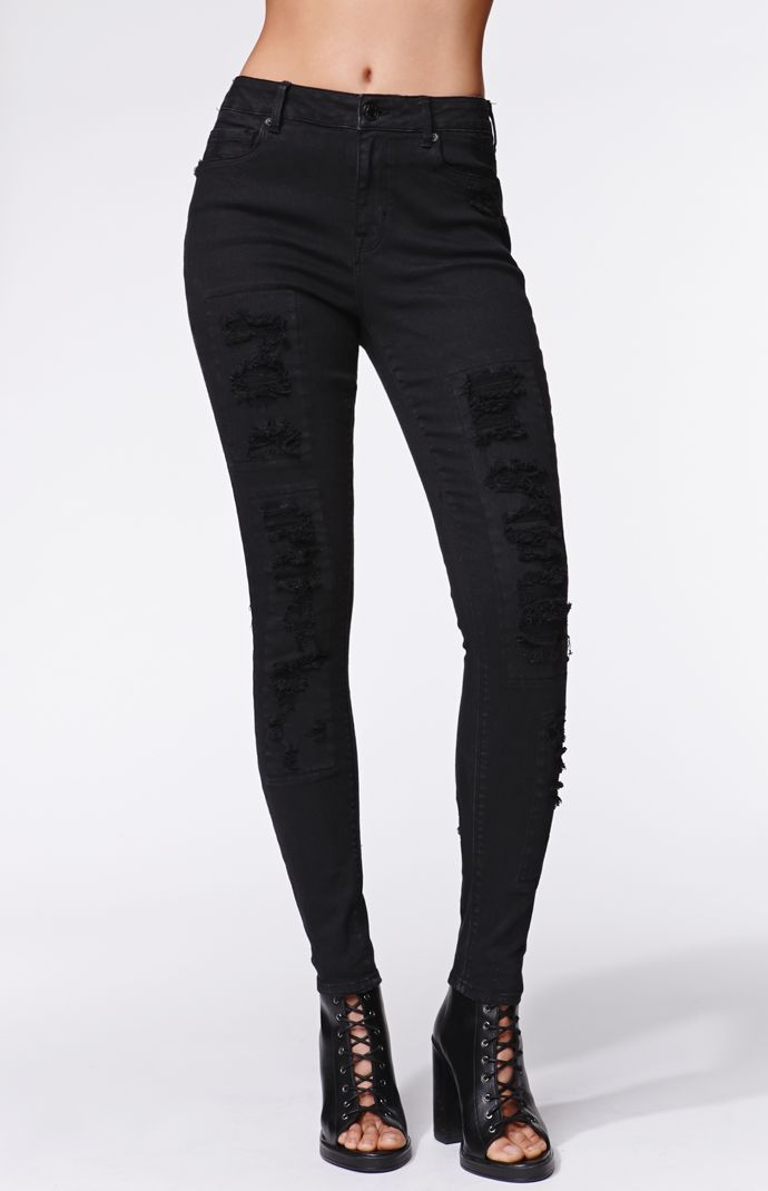 The women s High Rise Patch And Repair Skinniest Jeans by Kendall   Kylie  for PacSun and PacSun.com ef6f87dcc4fc
