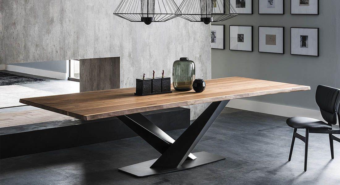 Table Cattelan Italia Stratos Wood Table Salle A Manger Table Bois Brut Table A Manger Moderne