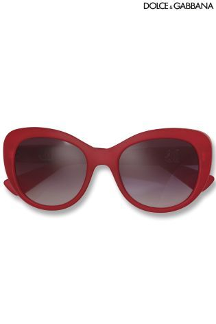 Buy Dolce And Gabbana Red Sunglasses from the Next UK online shop