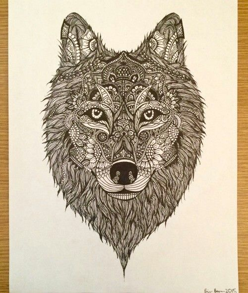 Mandala Wolf Tattoo Designs For Women I Like The: Pin By Moro Mrawy On I Like ♡