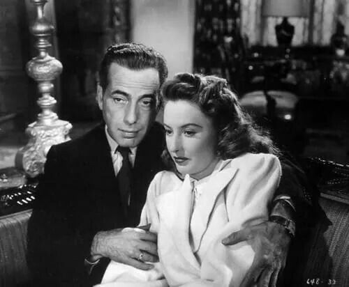 """Humphrey Bogart with Barbara Stanwyck in """"The Two Mrs. Carrolls"""""""