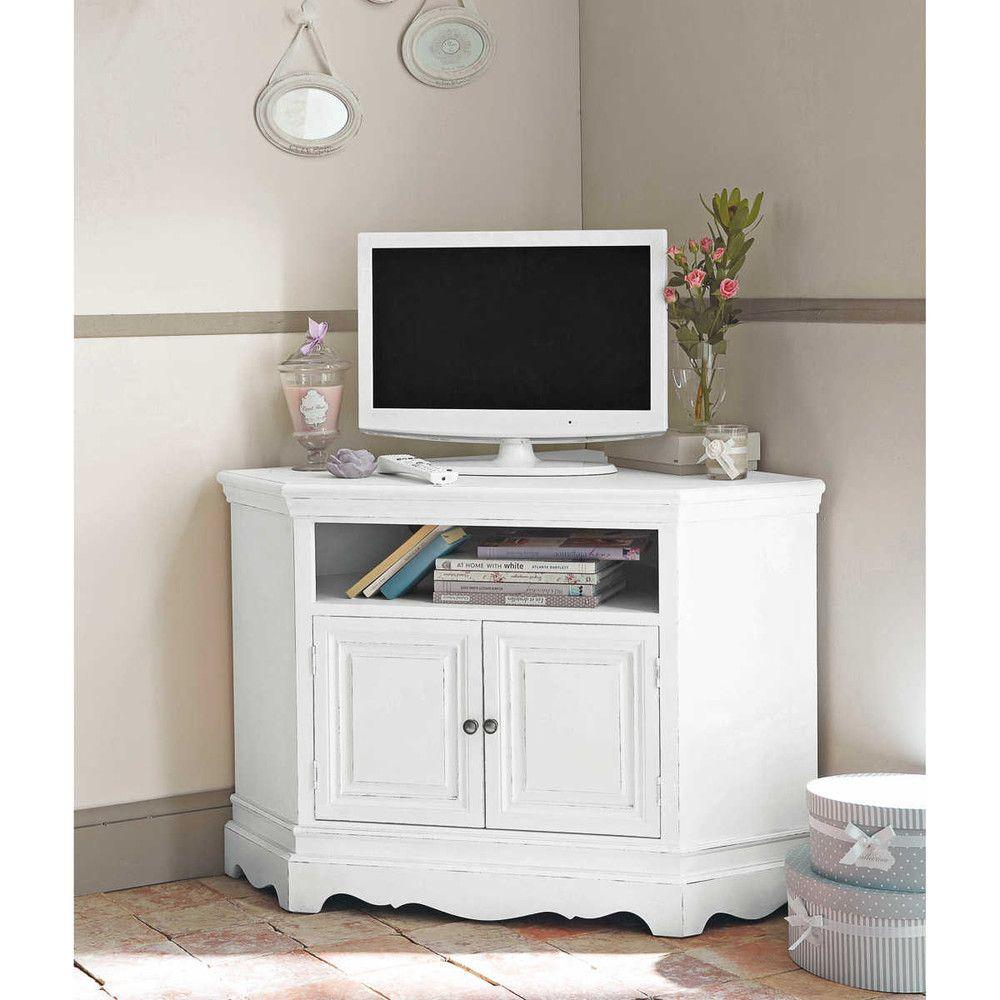 Porta-TV bianco ad angolo ... - Joséphine | decoration | Pinterest ...