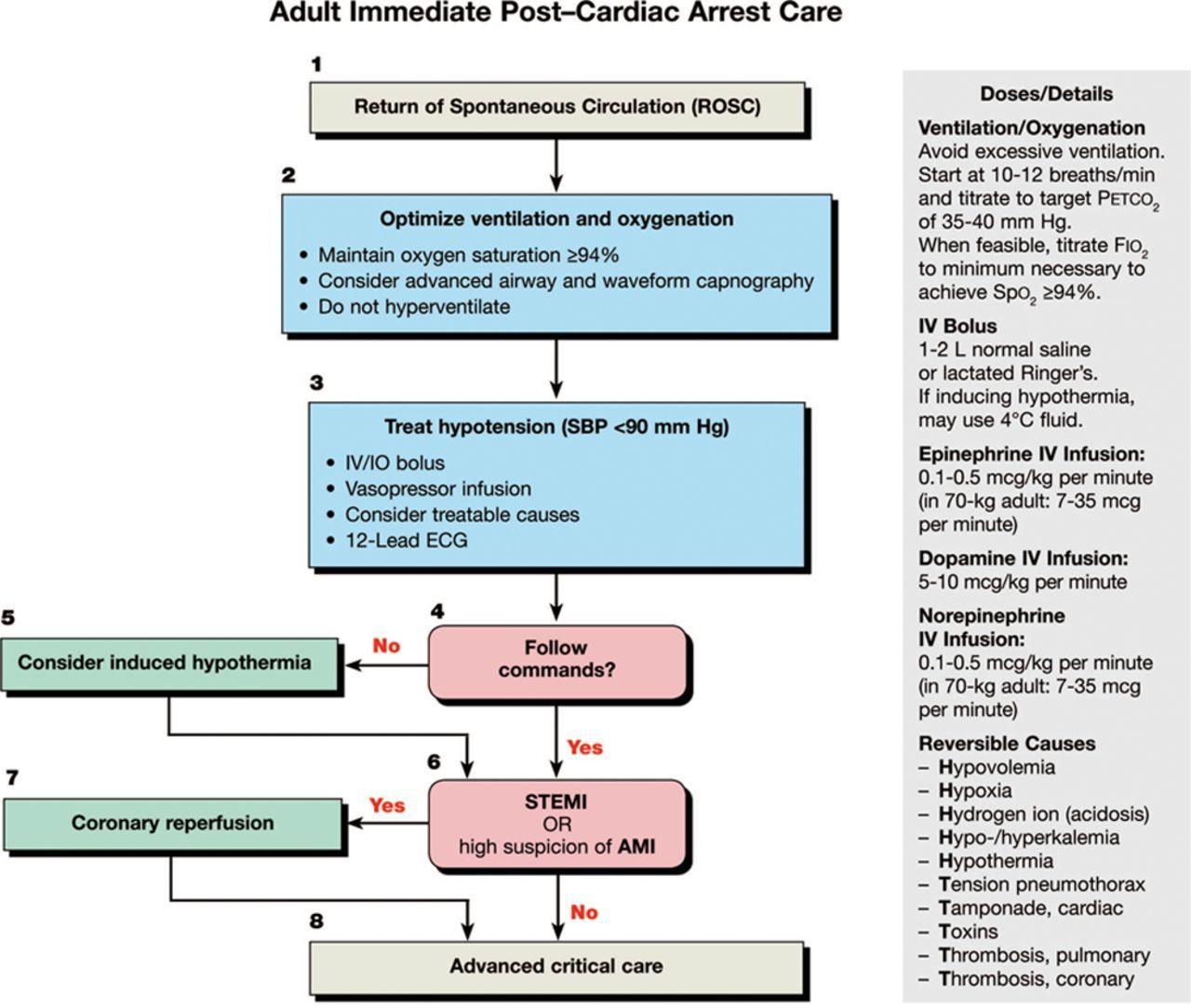 American Heart Association postcardiac arrest care