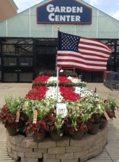 Red White And Blue Display At Lowe S Sevillefarms Garden