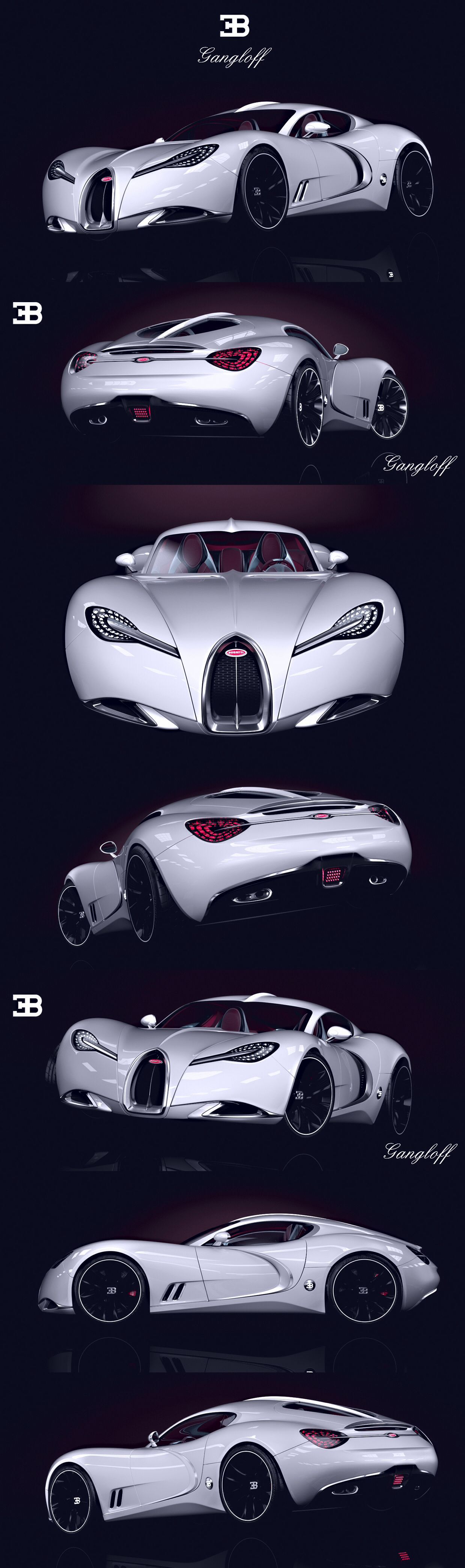 Amazing BUGATTI GANGLOFF CONCEPT CAR , INVISIUM By Paweł Czyżewski, Via Behance