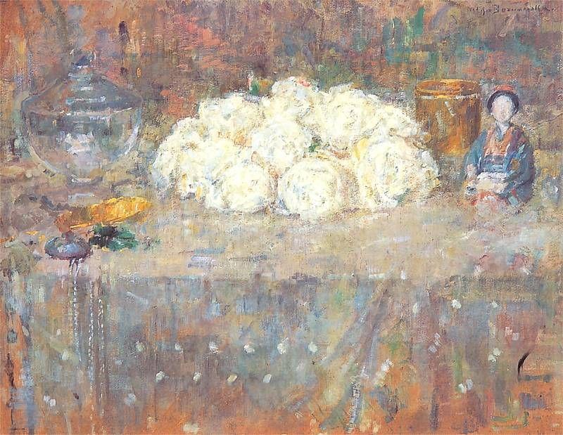 Mn Z Bialymi Kwiatami Jpg 800 619 Olga Boznanska Painting Impressionist Paintings