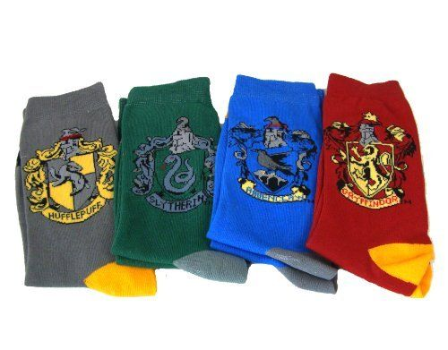 Wizarding World Harry Potter Hogwarts House Crest 4 Pc Socks Set Exclusive by Universal Studios, http://www.amazon.com/dp/B0089Q8KV8/ref=cm_sw_r_pi_dp_vLmfqb1XQWCMZ