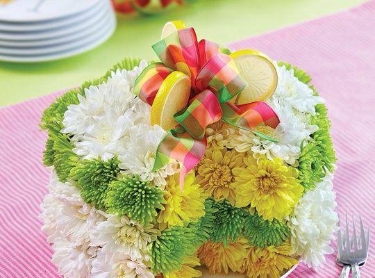 How To Arrange 1 800 Flowers Lemon Fresh Flower Cake