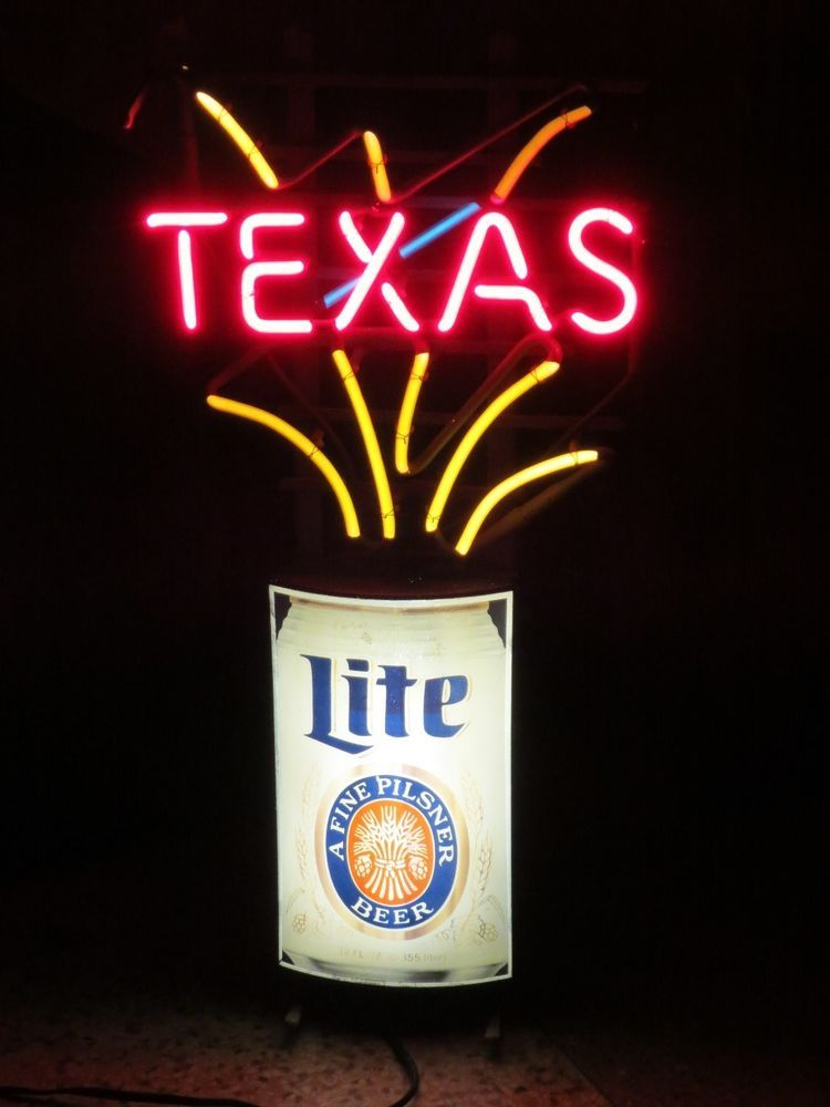 Vtg miller lite beer texas flashing neon motion sign bar light vtg miller lite beer texas flashing neon motion sign bar light lone star tx aloadofball Gallery
