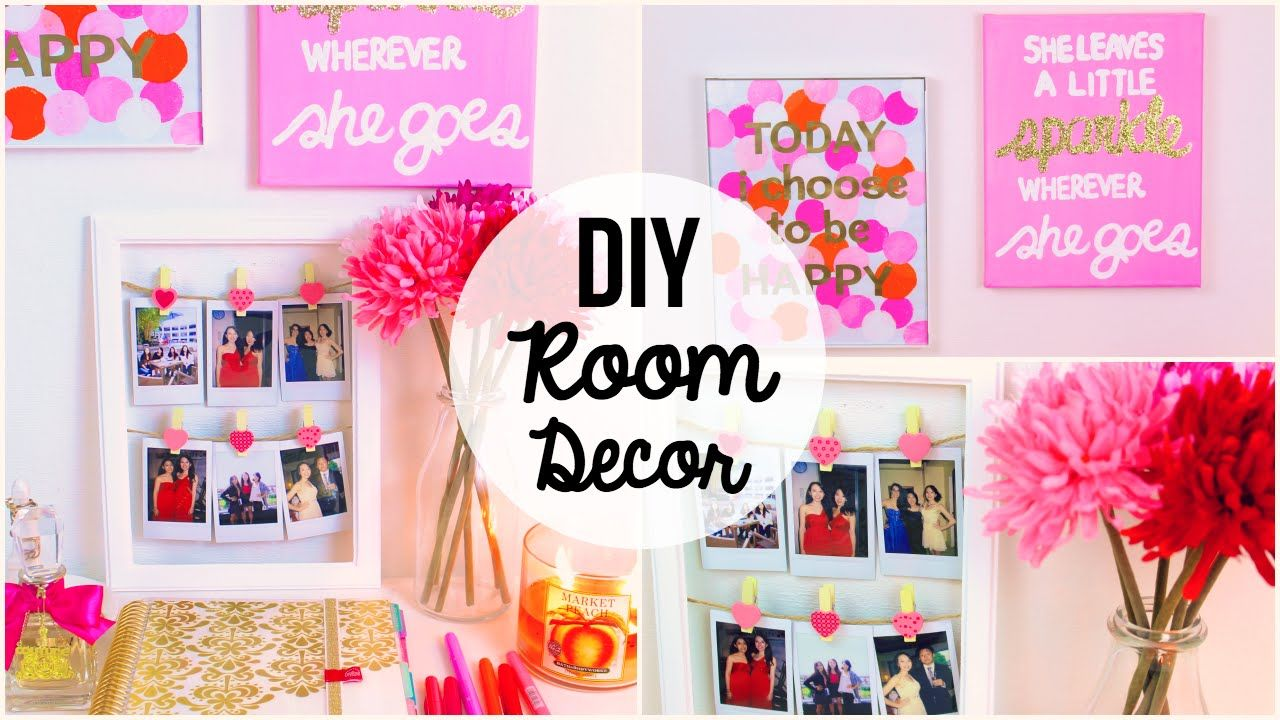 In Todayu0027s Video I Show You Guys Some Easy, Simple And Cute Wall Art Room ·  Bedroom GreenDiy ...