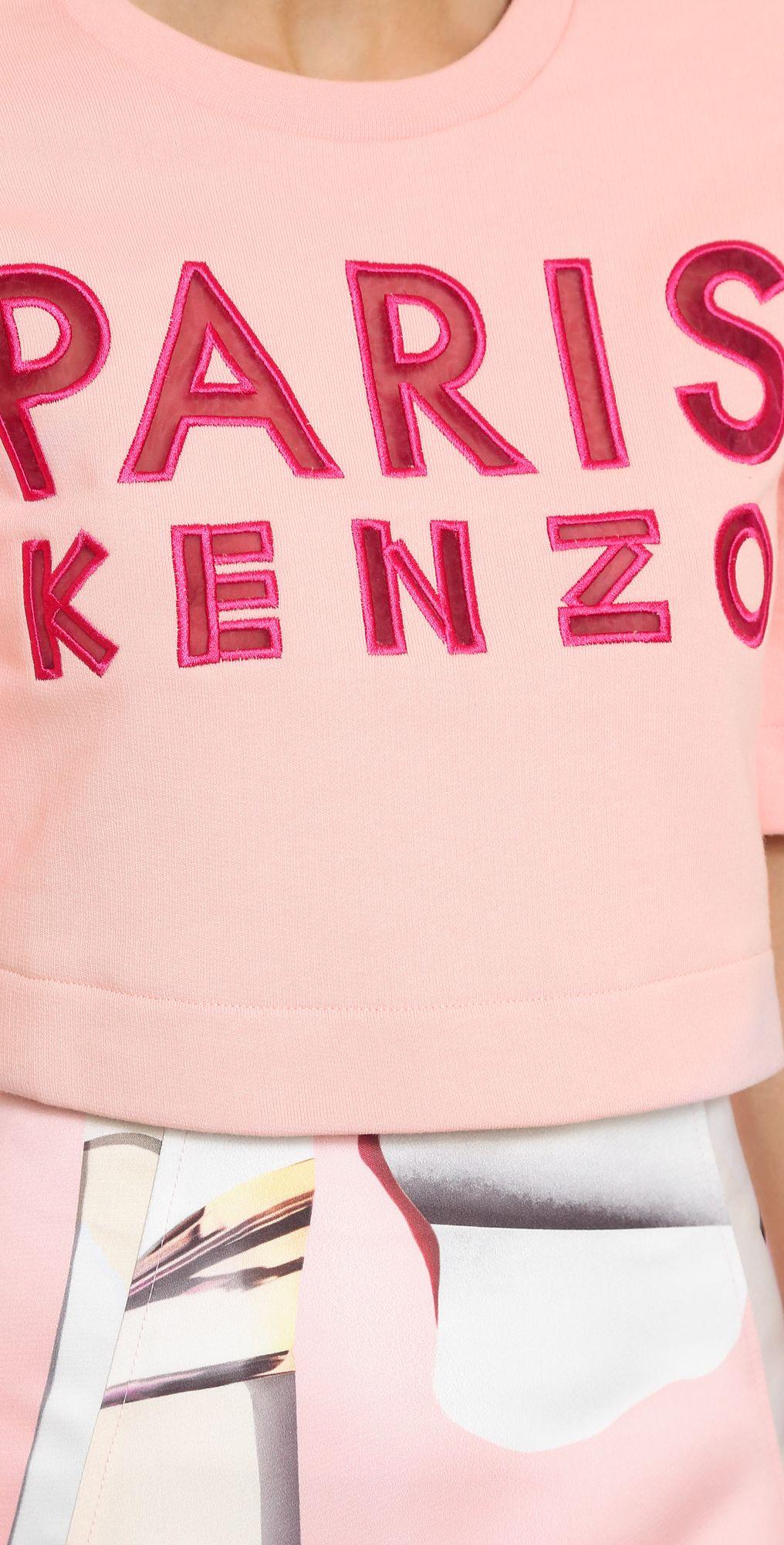 KENZO Paris Cropped Sweatshirt   SHOPBOP SAVE 25% use Code:SPRING25