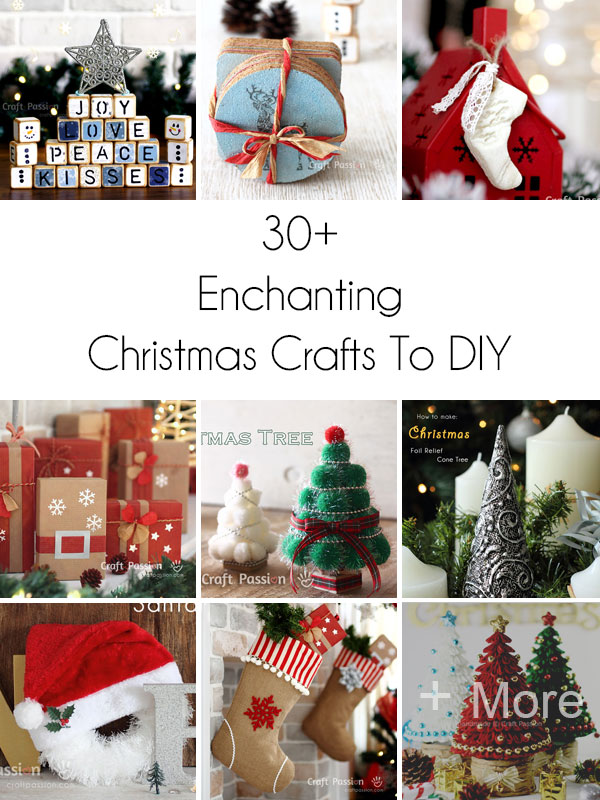 Christmas Crafts Round Up How To Diy Crafts Craft Passion Christmas Crafts Crafts Christmas Wreaths Diy