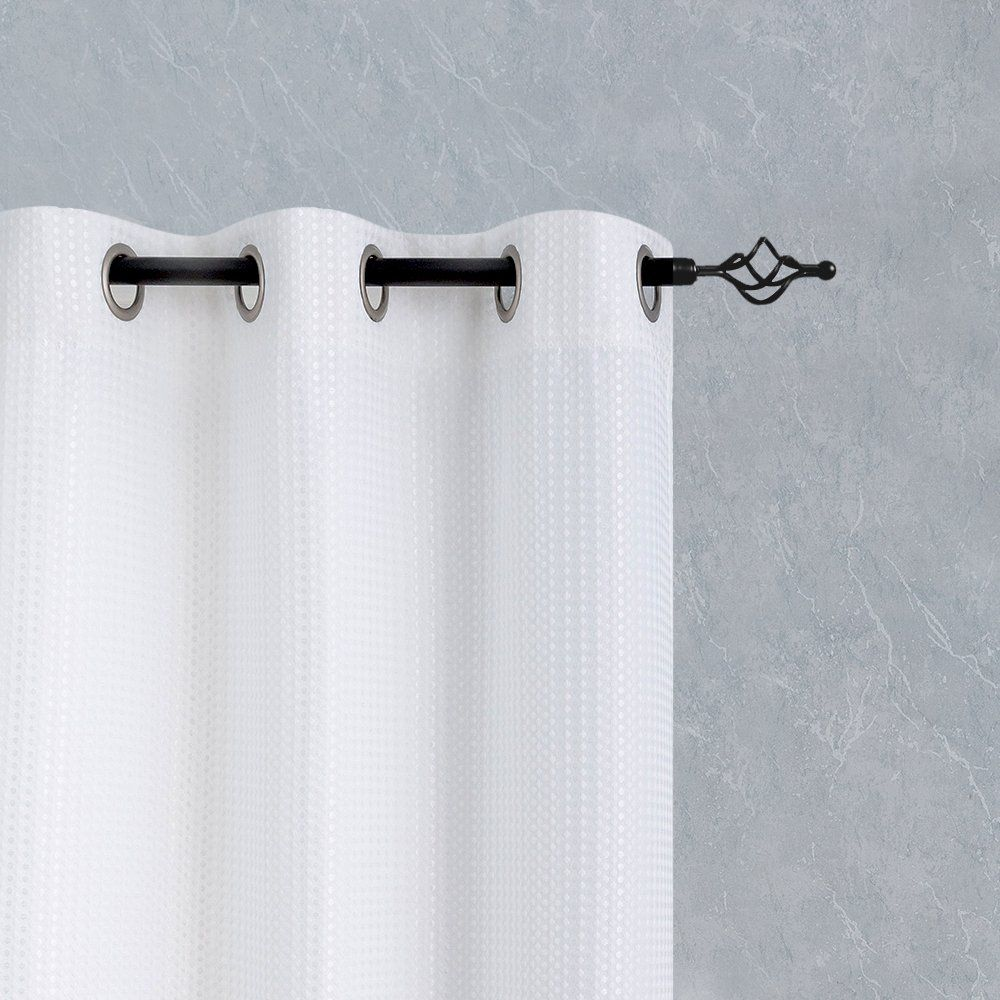 White Window Curtains For Bedroom Privacy Waffleweave Textured