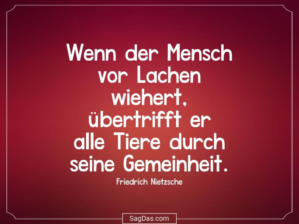 Friedrich Nietzsche Zitat Wenn Der Mensch Vor Lachen Zitate Marie Von Ebner Eschenbach Friedrich Nietzsche