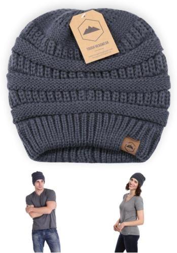 b759a42ff31 Beanie Plain Knit Hat Winter Warm Cap Slouchy Skull Ski Hats Men Women Warm  Gray