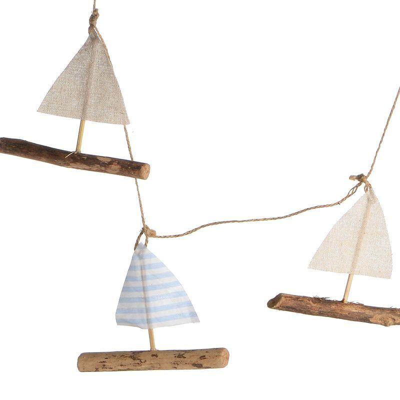 girlande segelschiff birkenholz blau ca l 100 cm maritime inspirationen pinterest. Black Bedroom Furniture Sets. Home Design Ideas