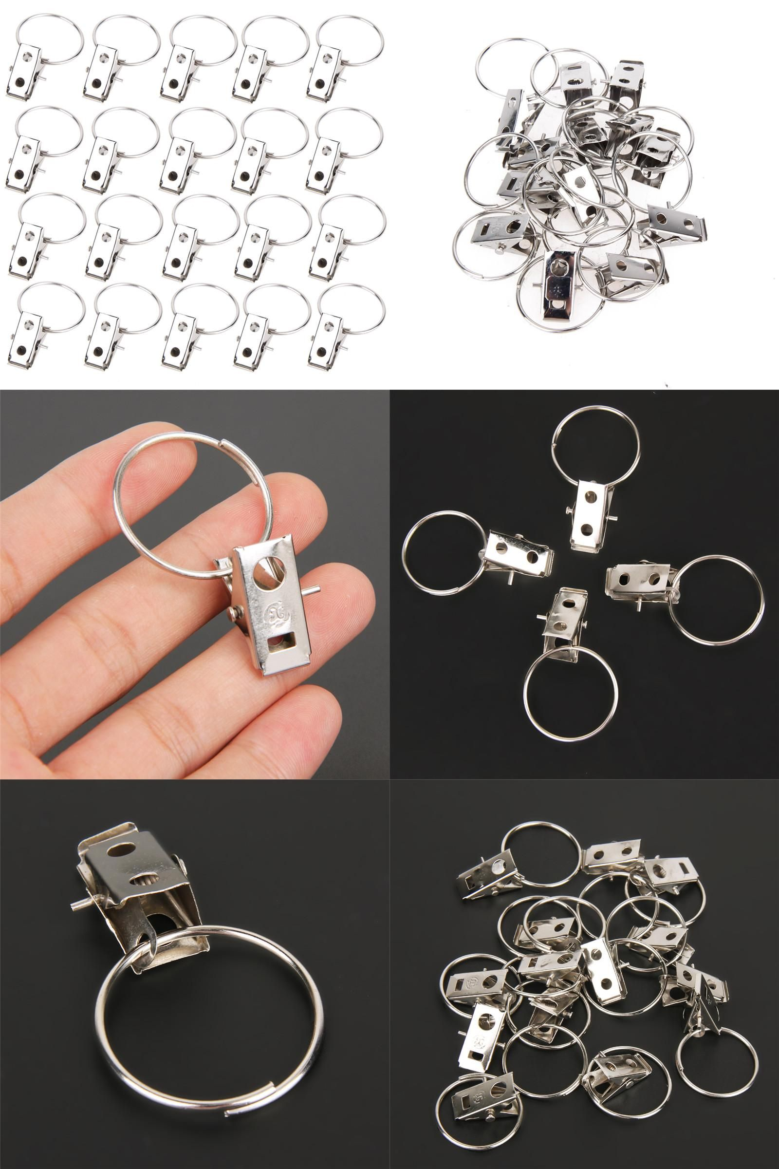 Visit To Buy 20pcs Lot Stainless Steel Curtain Rod Clips Window
