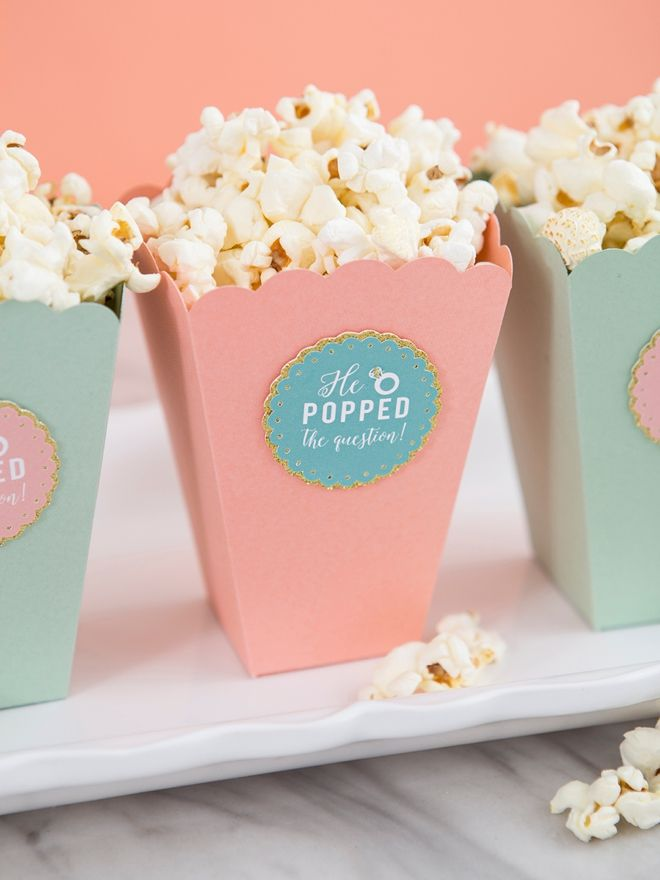 "These DIY Popcorn He ""Popped"" The Question Favors Are Adorable! 