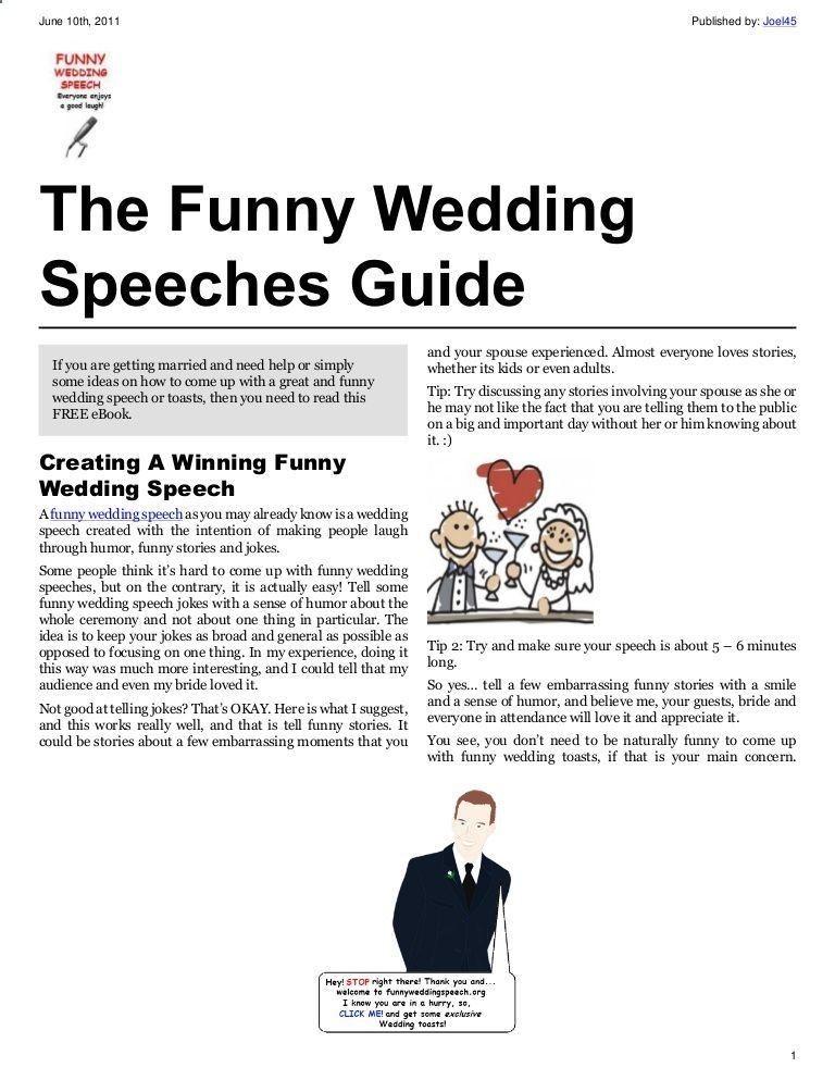 funny wedding thank you speech