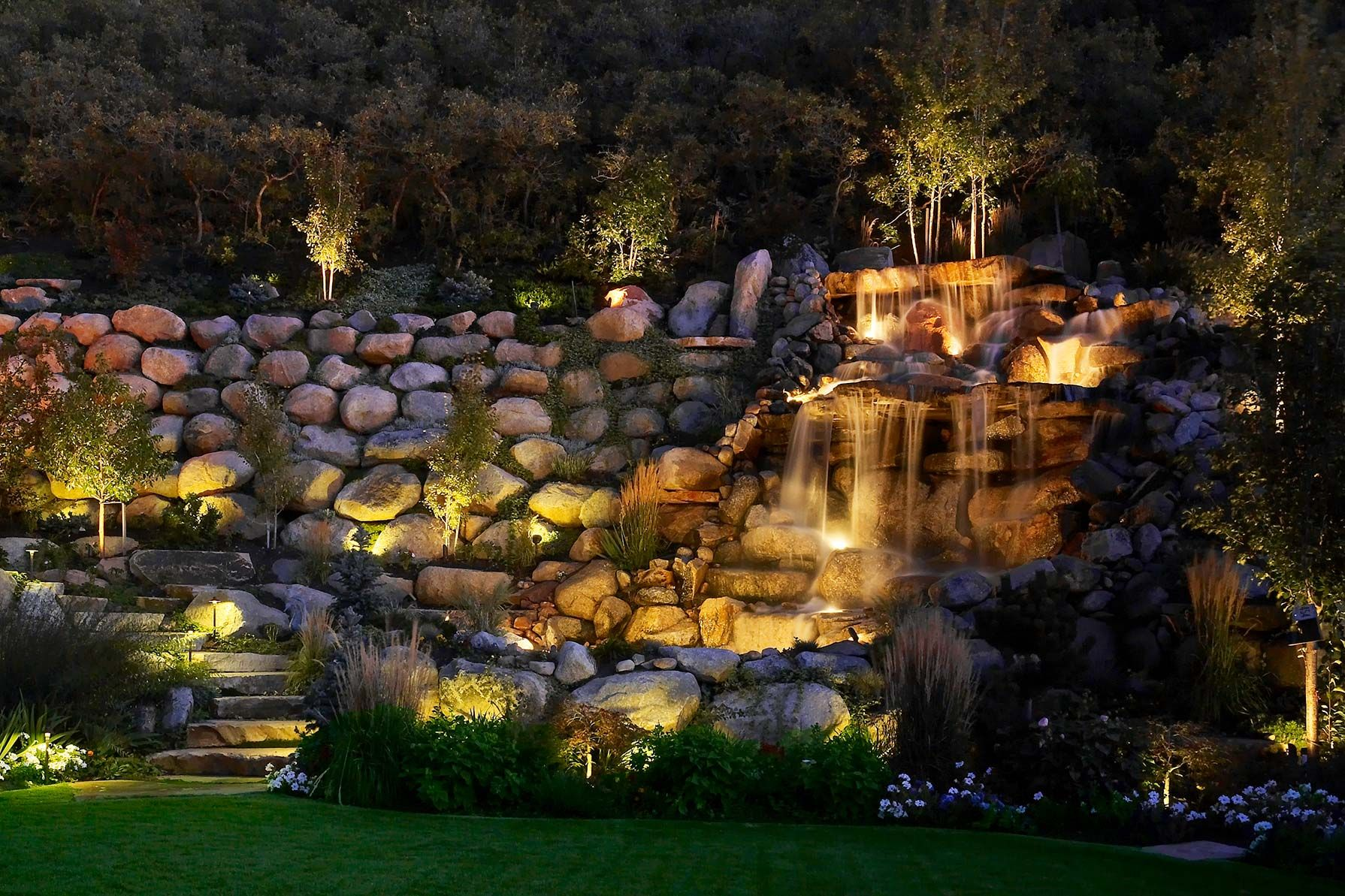 Marvelous Lowes Water Fountain Furnishing Beauty Garden Design Amazing Outdoor Lights Lowes