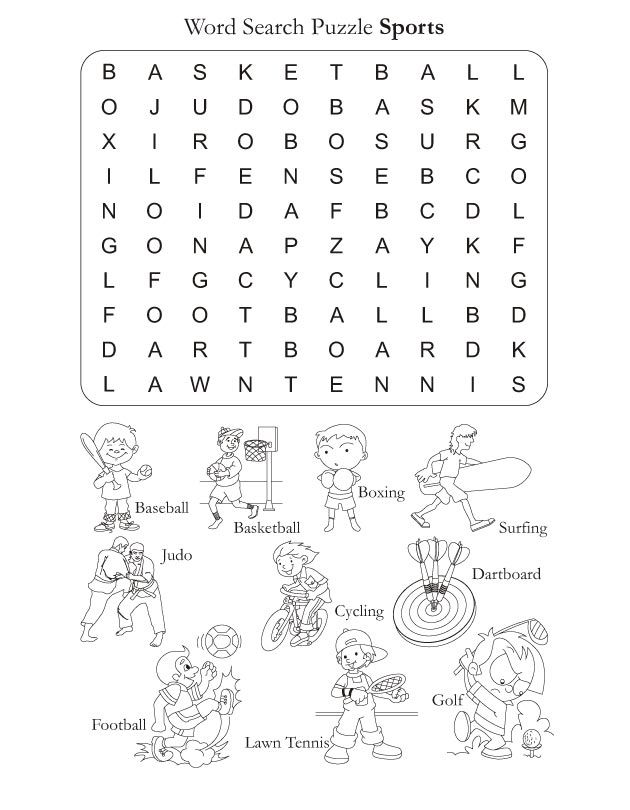 word search puzzle sports download free word search puzzle sports for kids best coloring. Black Bedroom Furniture Sets. Home Design Ideas