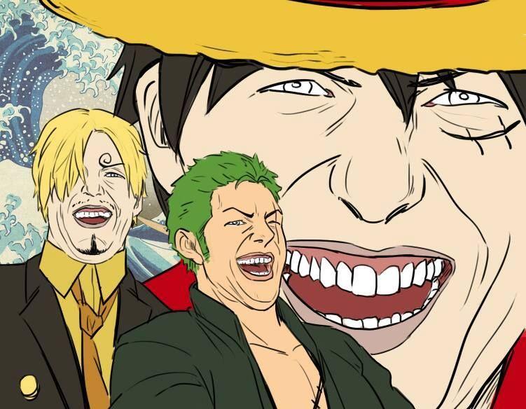 Resultado de imagem para luffy sanji zoro meme