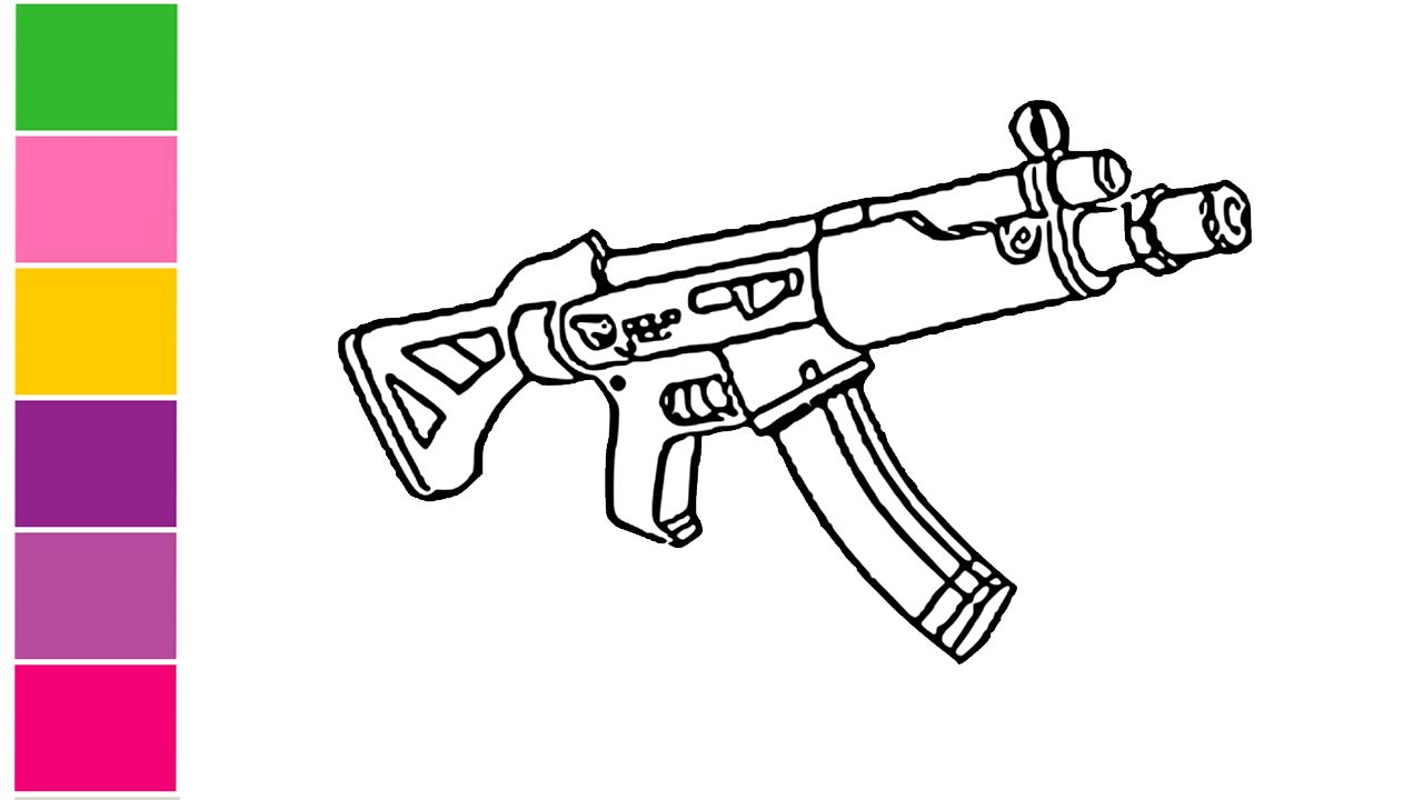 The Best Way To How To Draw Fortnite Guns With Images Coloring