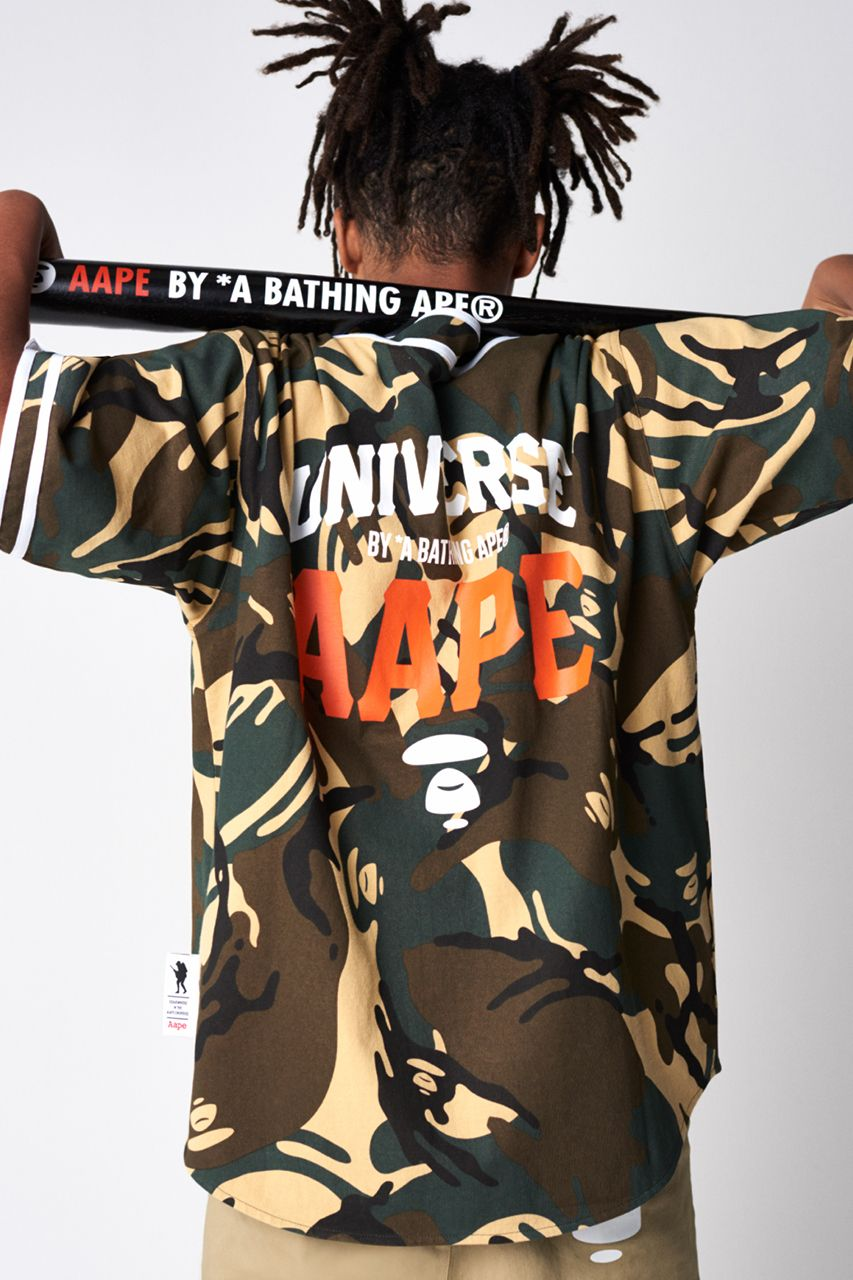 dde58927f44 AAPE by A BATHING APE Spring 2019 Lookbook collection release date drop  info buy camouflage head BAPE