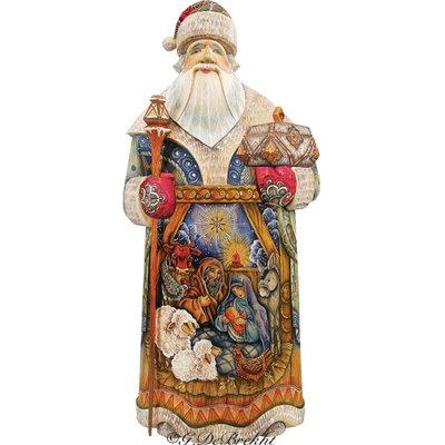 Pin By Jenn Sunkel On Russian Santas Santa Figurines The Holiday Aisle Christmas Nativity Scene
