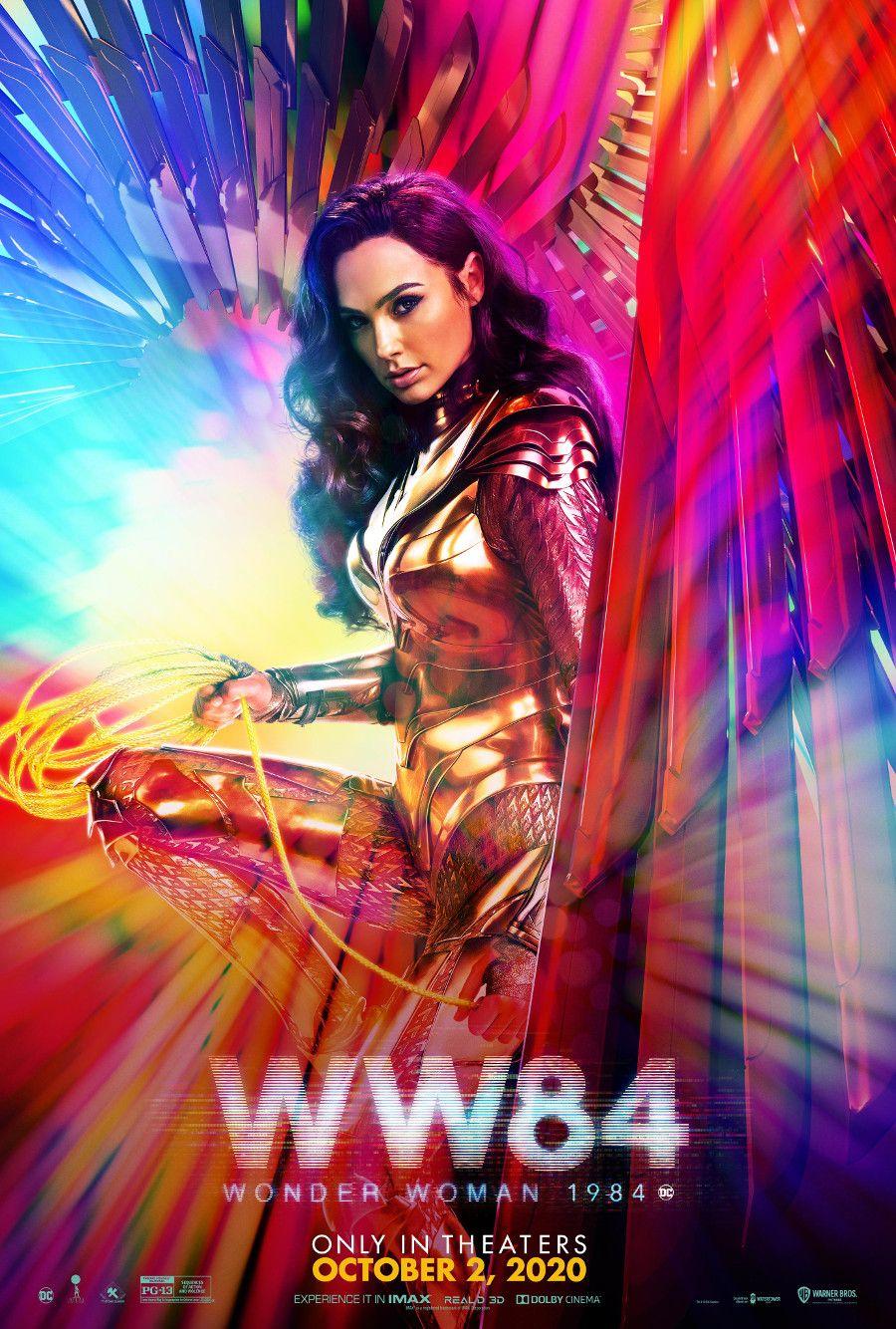 Gal Gadot Wonder Woman 1984 Poster Sports New October Release Date Cosmic Book News In 2020 Wonder Woman Gal Gadot Wonder Woman 1984 Movie