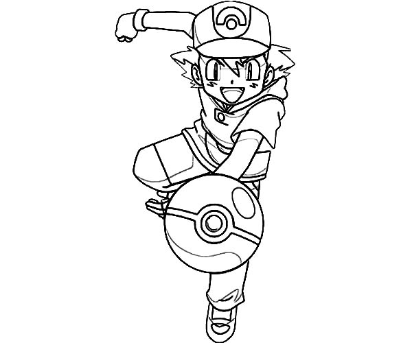 Ash Ketchum Throw Pokemon Ball On Pokemon Coloring Page Coloring Sky Pokemon Coloring Pages Pokemon Coloring Super Coloring Pages