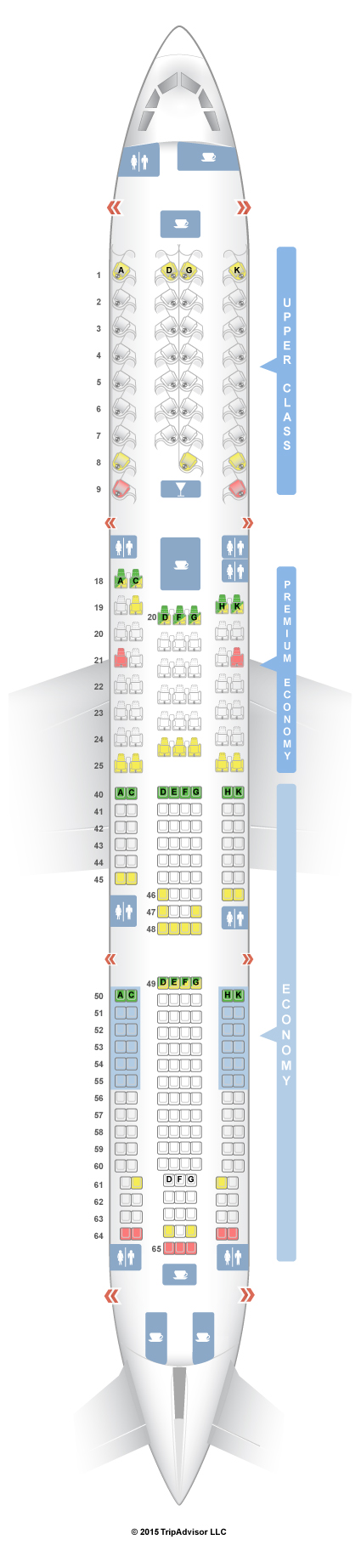 SeatGuru Seat Map Virgin Atlantic Airbus A330-300 (333) Travel in
