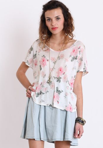 Touch of Innocence Floral Tee