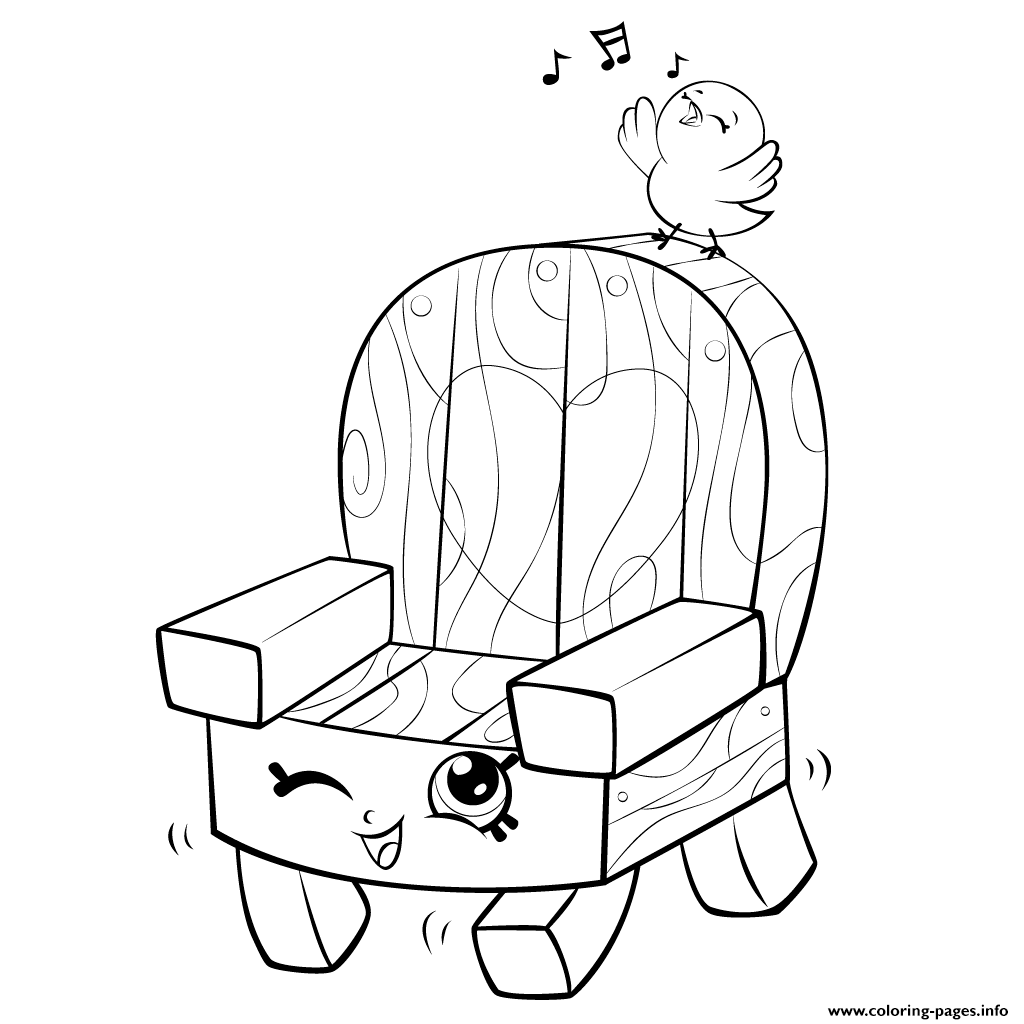 Hi 5 coloring pages - Print Garden Chair And Bird Shopkins Season 5 Coloring Pages