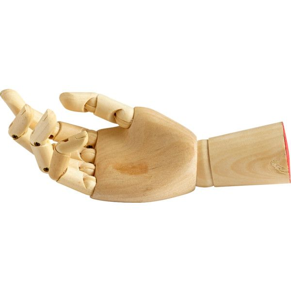 Cyan Design Wooden Manus Hand Sculpture ($123) ❤ liked on Polyvore featuring home, home decor, wood sculpture, wooden home decor, cyan design, wooden sculptures and wooden hand sculpture