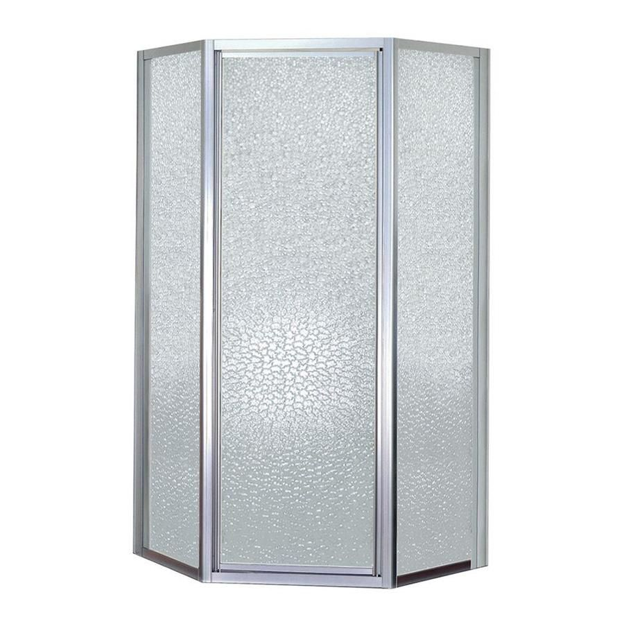 Mustee Stylemate 70 In H X 38 In To 38 In W Framed Hinged Chrome
