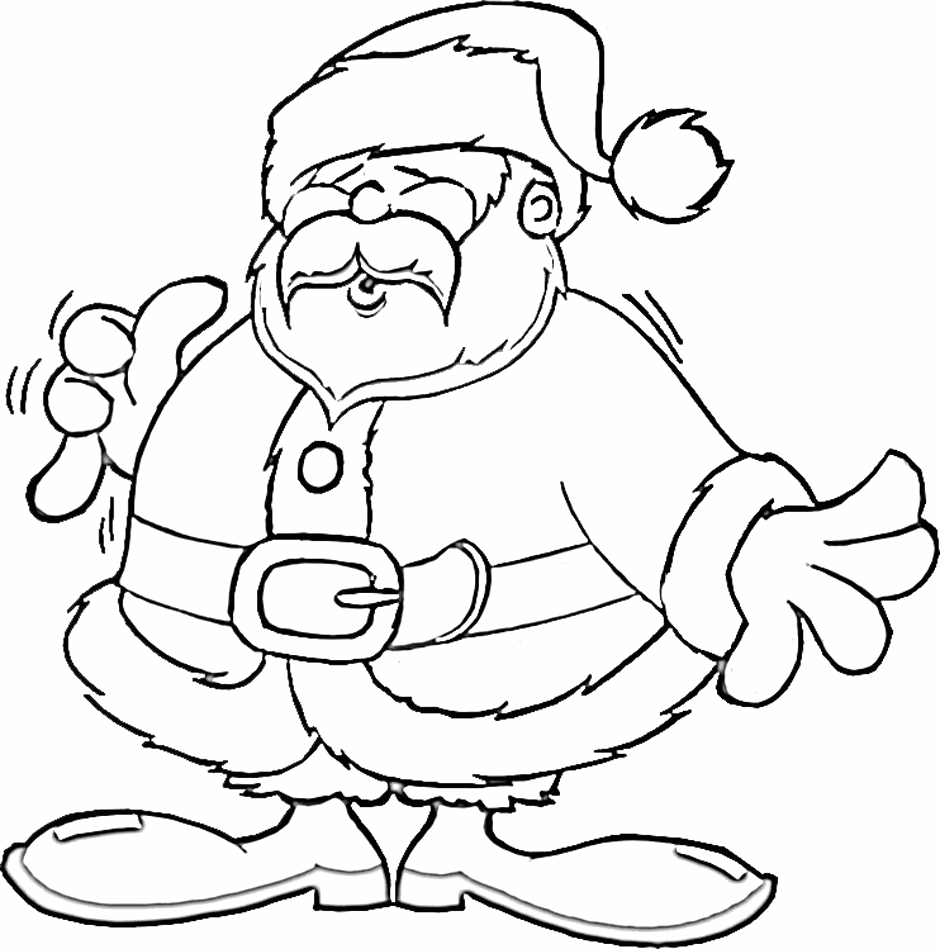 Santa Claus Cold In Christmas Coloring Pages   Coloring pages ...