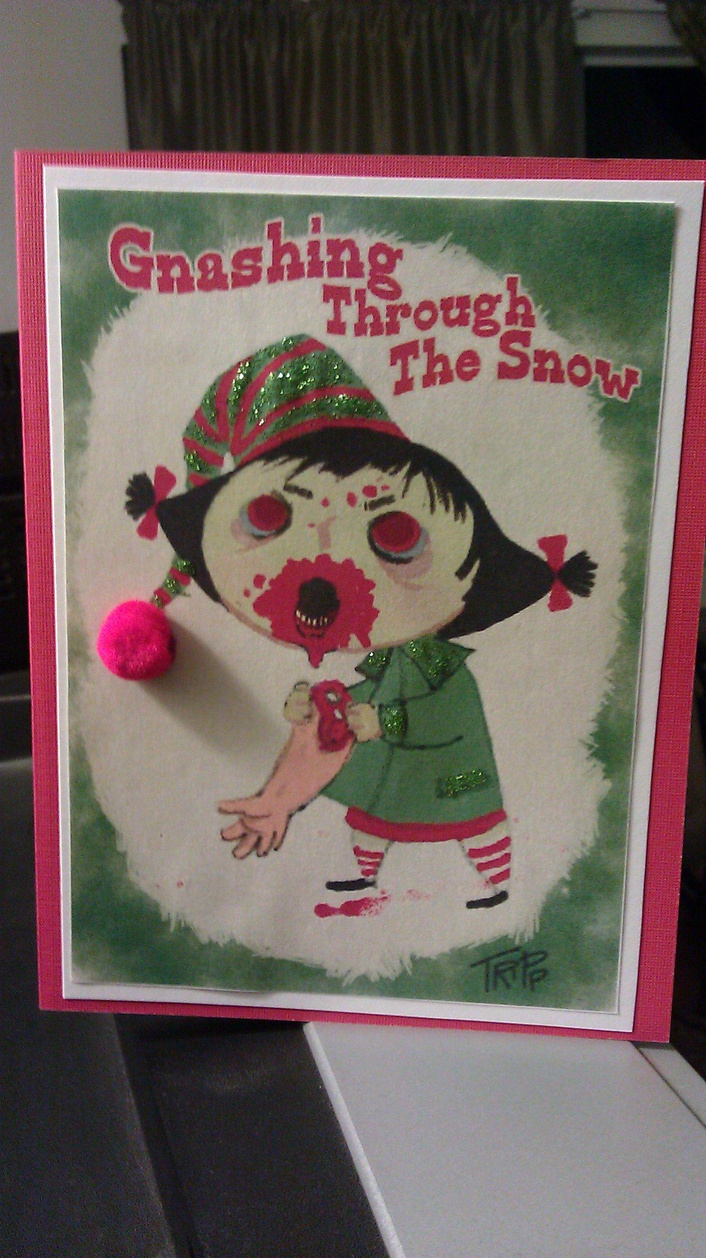 Gnashing through the snow   Zombie Christmas Cards   Pinterest ...